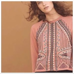 Anthropologie Akemi & Kin embroidered sweatshirt
